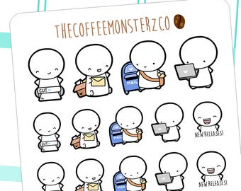 shop owner emotis - emoti planner stickers E012