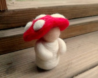 Toadstool Friend (Waldorf-Inspired & Needle-felted)