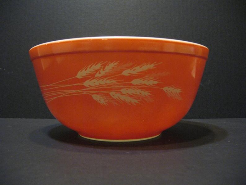 Pyrex Autumn Harvest Wheat Orange 2.5 L Nesting Mixing Bowl 403