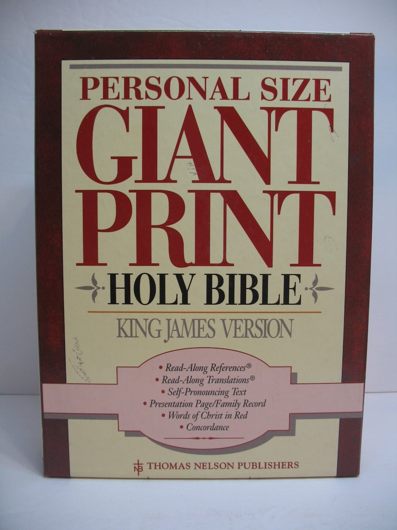 Holy Bible KJV Personal Size Giant Print Reference Bible Dusty Rose Bonded  Leather 544DR