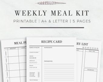 recipe cards printable recipe card template recipe sheet etsy