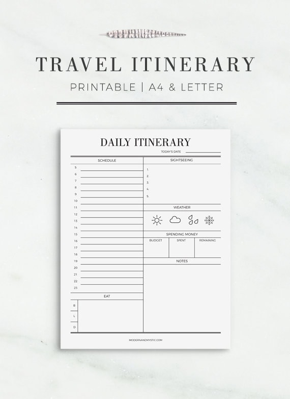 photograph regarding Travel Planner Printable titled Generate Itinerary Printable Printable Drive Plan Getaway Working day Planner Drive Designing Printable