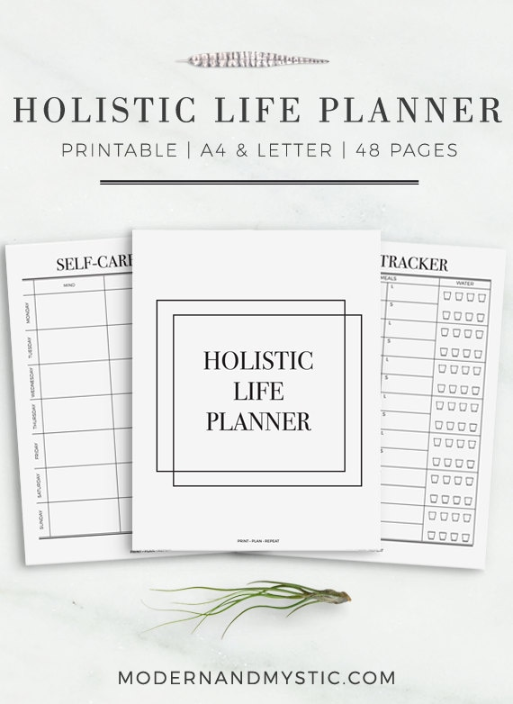 the holistic life planner ultimate printable daily planner