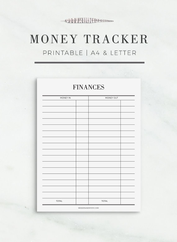 money tracker printable printable finance planner etsy