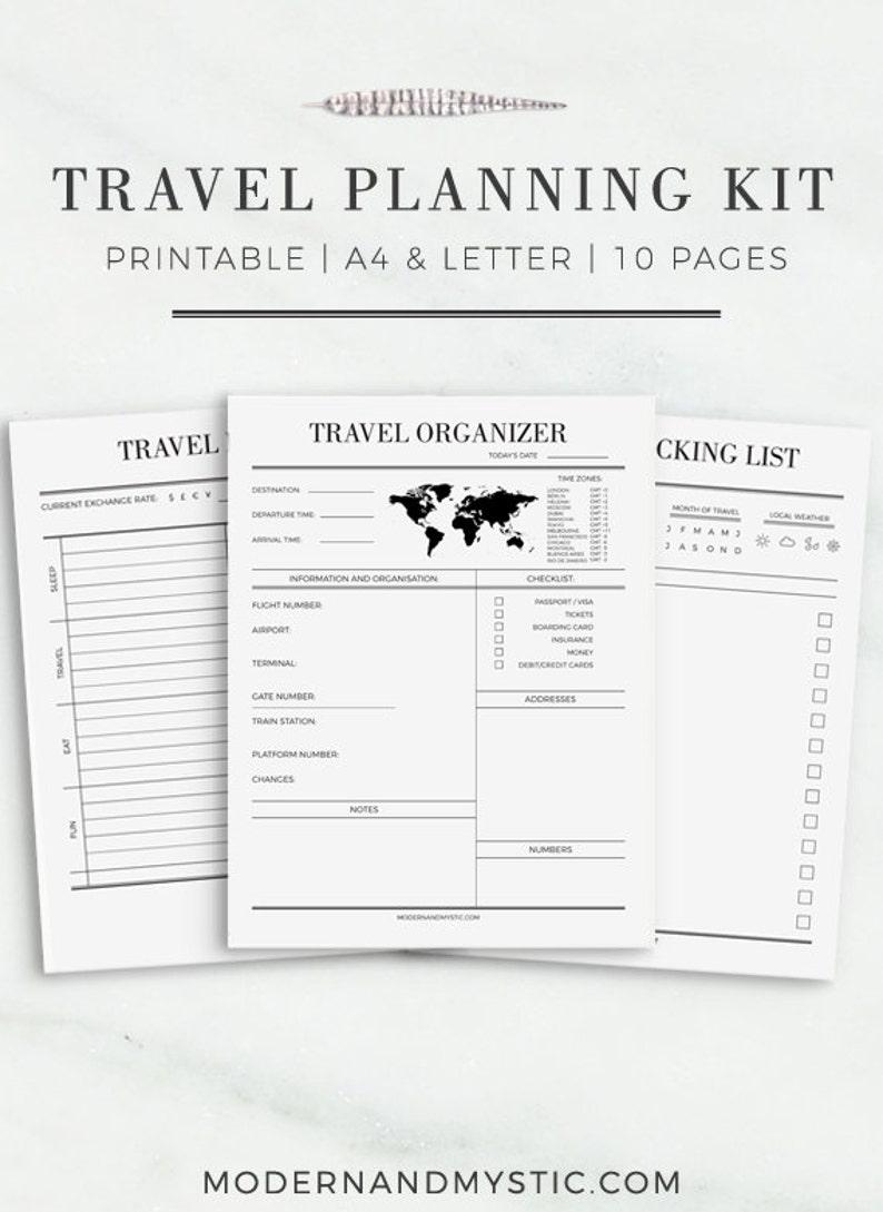 Travel Journal A4 & Letter Size Travel Planner Travel Packing  Etsy