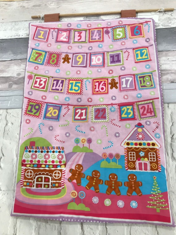 Girls Advent Calendar Family Tradition Gingerbread House Etsy