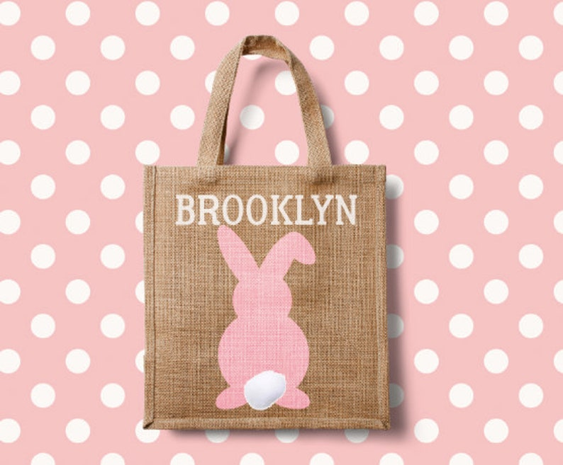 Personalized Easter Bags BurlapJute Small