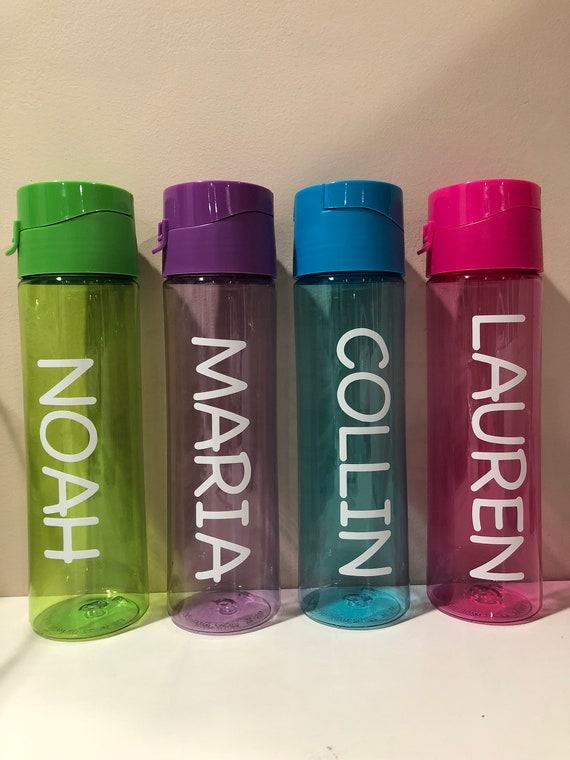 personalized plastic water bottle 4 colors available etsy