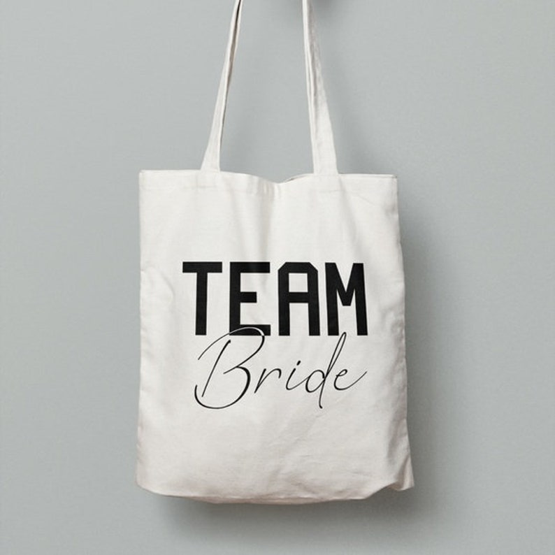 Canvas Tote Team Bride Medium