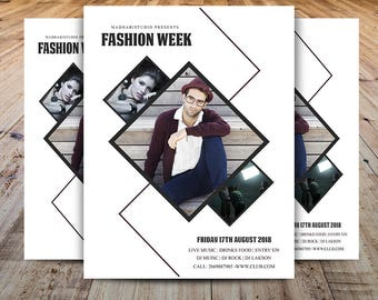 Show Flyer Etsy - Fashion show flyer template