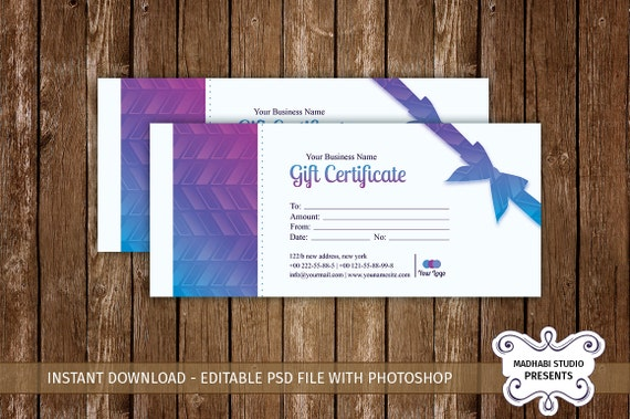 Christmas Holiday Gift Certificate Template Multipurpose Etsy