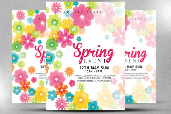 spring event flyer template