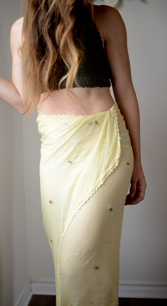 Yellow Floral Sheer Swimsuit Wrap or Shoulder Wrap