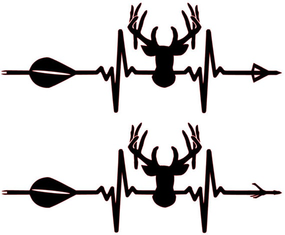 Buck Reaper Antlers Skull Rifle Bow Hunter horns Buck hunting decal sticker