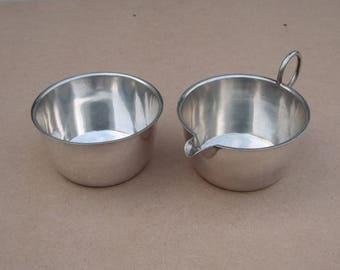 Silver Plated Milk Jug + Sugar Bowl Set, Made by Martin Hall & Co - Antique/Vintage Tableware