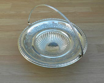 Pedestal Dish/Stand - Silver Plated/EPNS - Fruit Design - Vintage Silverplate
