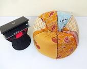 Handmade cotton kantha quilt 39 s cut peice Floral Bean Bag Chair ,Home Decor Round Bohemian Decorative Embroidered Ottoman Pouf