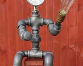 Industrial style lamp made from 1 quot Pipe Fittings