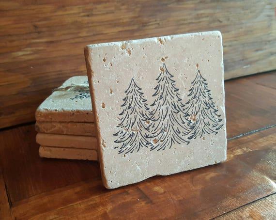 Cabin Gift Ideas Housewarming Gift Stone Coasters