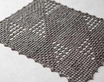 Crochet linen doilies