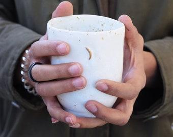 Gold moon coffee cup // ceramic cup, handmade coffee,minimal design, mug ,gift,glaze,drink,tea,coffee,dining, gold ceramic, gold luster