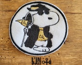 SNOOPY LA rare embroidered patch shield