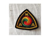 Rare embroidered patch ecusson American Motorcycle Association AMA