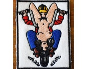 Biker embroidered patch 69 rare