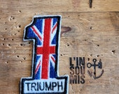 Rare patch embroidered patch Number one Triumph