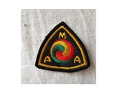 Ecusson patch embroidered rare American Motorcycle Association AMA