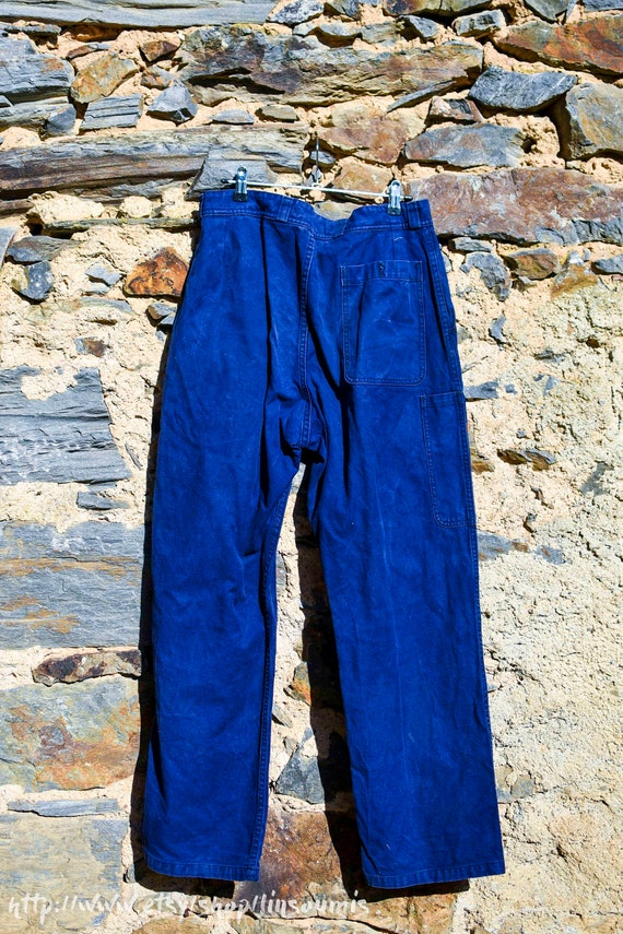 1960 french workwear pant mint - image 1