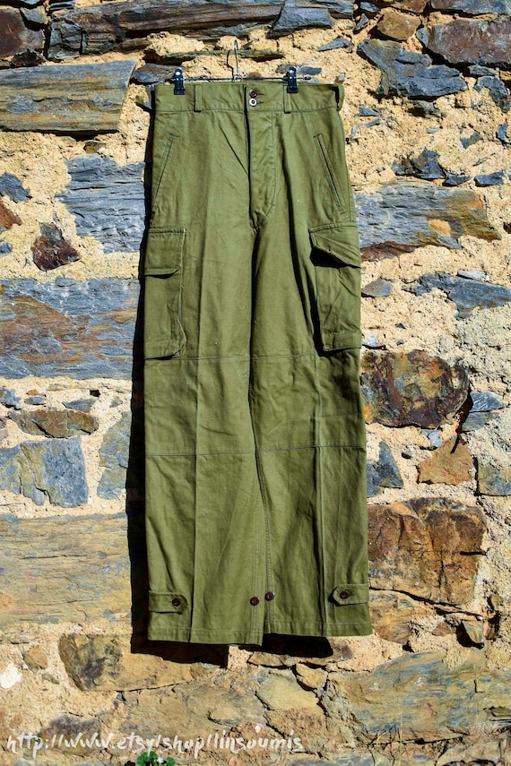 1947 french fatigue cargo pant mint