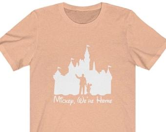 Disney Shirts Mickey, We're Home  Disneyland Shirt  Walt and Mickey Partners Disneyland castle shirt