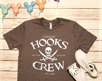 4b25017f4 Disney Shirts Captain Hooks Crew Shirt Peter Pan Shirt Disney pirate shirt  Disneyland Shirt Disney Cruise Shirt Disney World Shirt