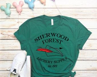 Disney Shirts Mens Sherwood Forest Archery Supply Robin Hood Shirt  Disneyland Shirt Disney World Shirt Attraction Shirt Disney Shirt