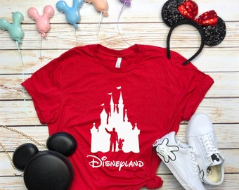 Disney Shirts Mens Walt & Mickey Partners Castle Shirt Disneyland Tee Disneyland Shirt Disney World Shirt Disney Shirt
