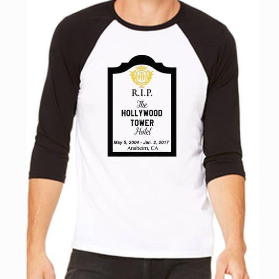 e1314f382e235 Disney Baseball Tee Raglan Tee RIP Hollywood Tower Hotel