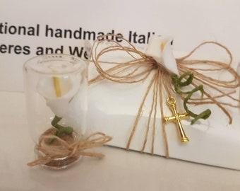 ORANGE POPPY@Flower Gift@Unique Glass Keepsake@Stunning table decoration@Favour