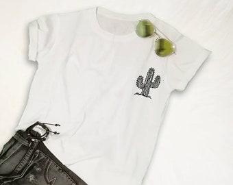 1c02ac0d Cactus T Shirt Cactus Print Pocket T-Shirt Cactus Shirt Mens Womens Gift  Succulent Shirt Tumblr Shirt Desert Shirt Unisex TShirt Plant Shirt