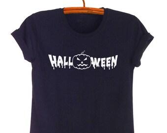 28e990e61 Halloween Shirts Outfits Halloween Pumpkin Tees Tumblr Grunge T Shirt Top  Tee Cool Womens Mens Halloween Shirts Jack O Lantern T Shirt