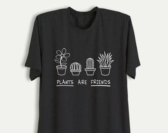 13441c13f059d Plants are friends Shirt Plant T Shirt Cactus Graphic Tee Tumblr Printed  TShirt Womens Cute Shirts for Teens Mens Clothing T-Shirts