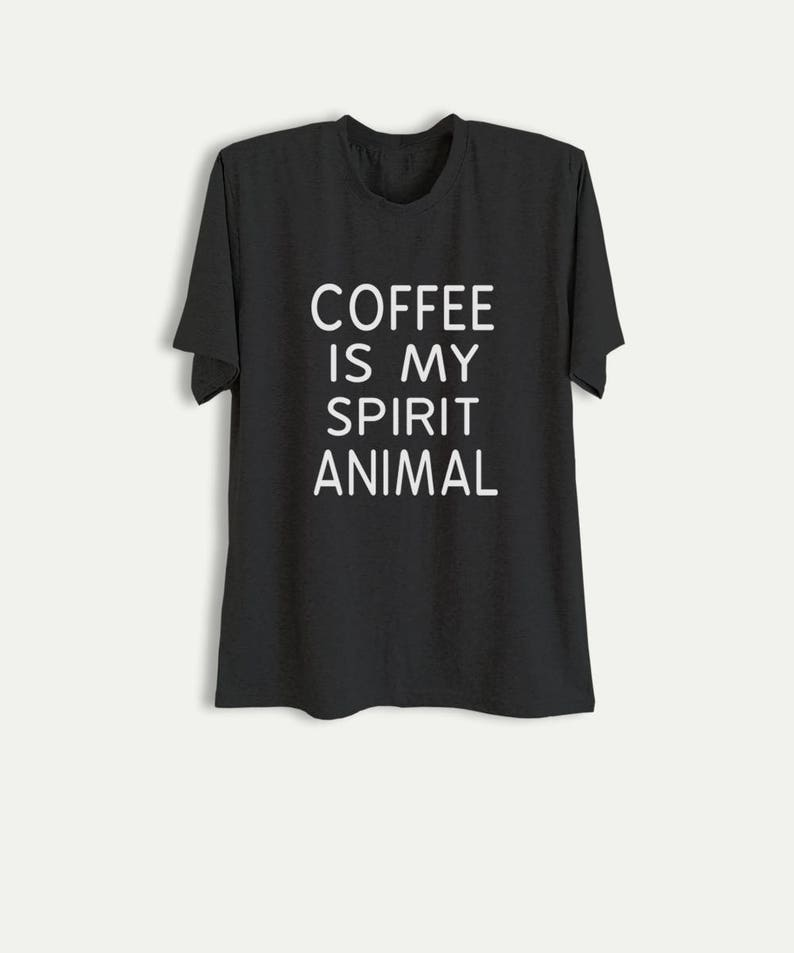75f6f019 Coffee T Shirt Funny Shirts with sayings Slogan Tee Tumblr | Etsy