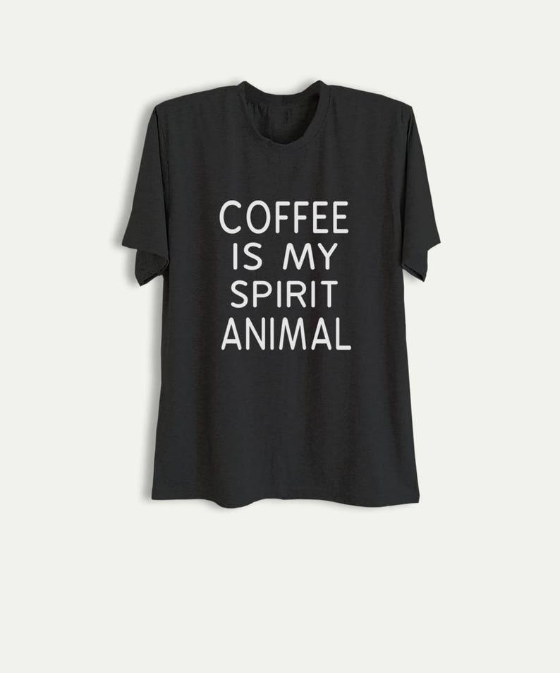 c026eedc32 Coffee T Shirt Funny Shirts with sayings Slogan Tee Tumblr | Etsy