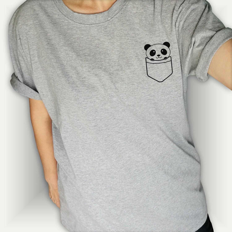panda tasche panda t shirt lustig spruch trendige graue. Black Bedroom Furniture Sets. Home Design Ideas