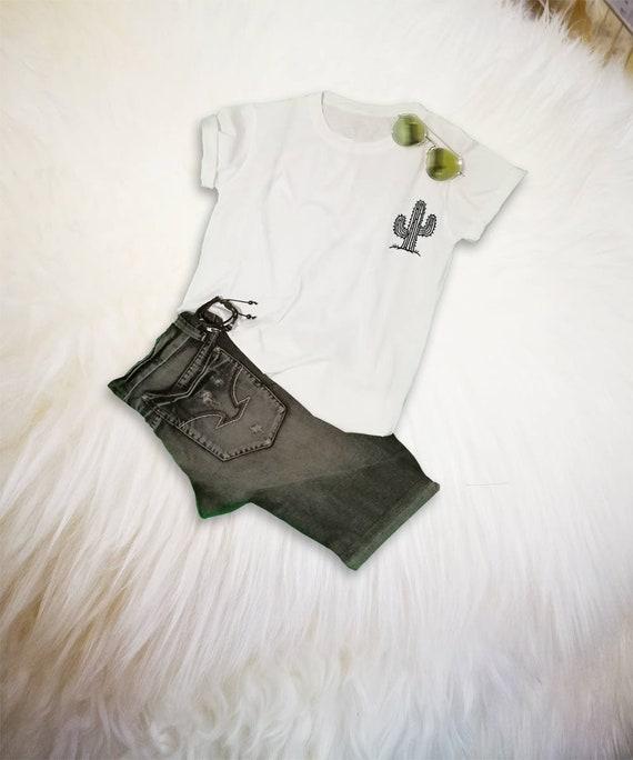8b8c4d2b Cactus T Shirt Cactus Print Pocket T-Shirt Cactus Shirt Mens | Etsy