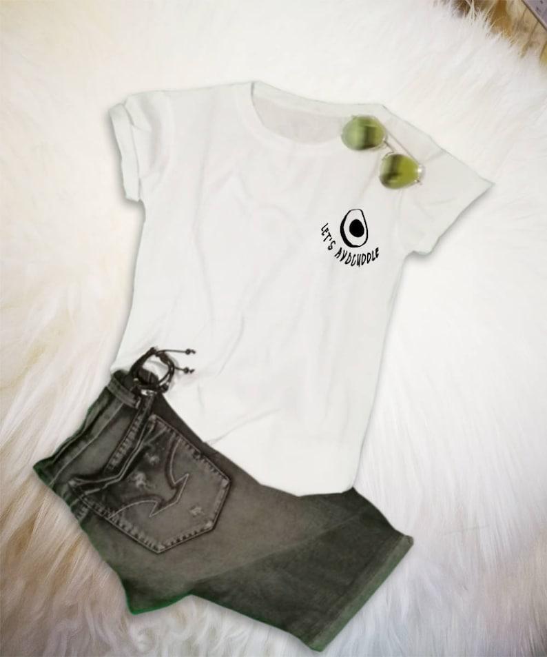 296019683 Avocado T Shirt Cute Avocado Shirt Pocket Tee Shirt Tumblr | Etsy
