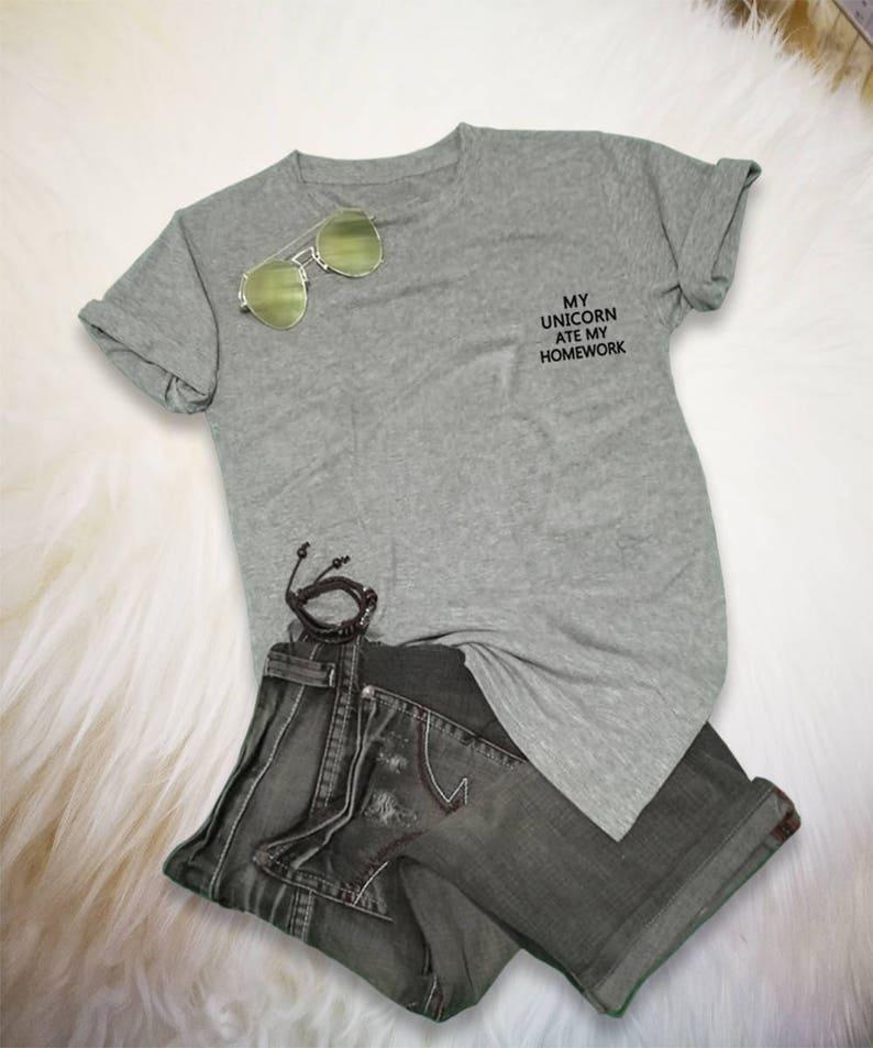 5d748e83 Unicorn T Shirt Tee Shirt Pocket TShirt Top Tumblr Inspired   Etsy