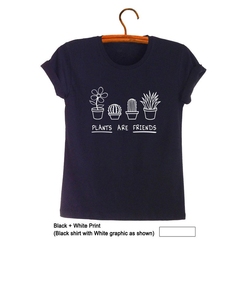 abf50f235 Plants are friends Shirt Plant T Shirt Cactus Graphic Tee   Etsy