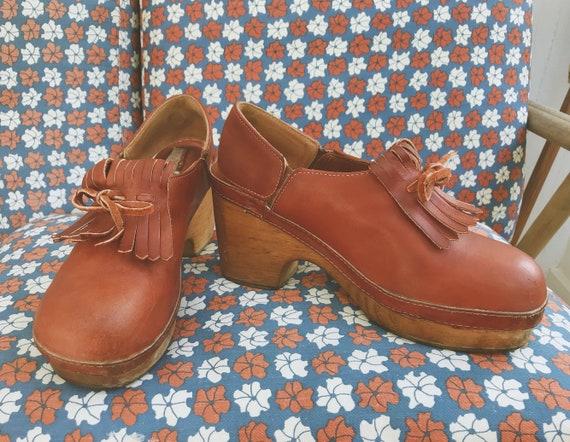 Platforms Size Leather Zodiac 8 70's Women's Kiltie qHz7wWSt