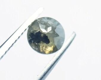 BD08 3 pcs 1.43Tcw 6 To 10 mm Natural Blue Gray Geometric Shape Rose Cut Diamond Loose Cabochon Natural Faceted loose Diamond Rose Cut